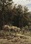 Ivan Ivanovich Shishkin (1832 � 1898)   Apiary.   Oil on canvas, 1882   63.2 x 46 cm